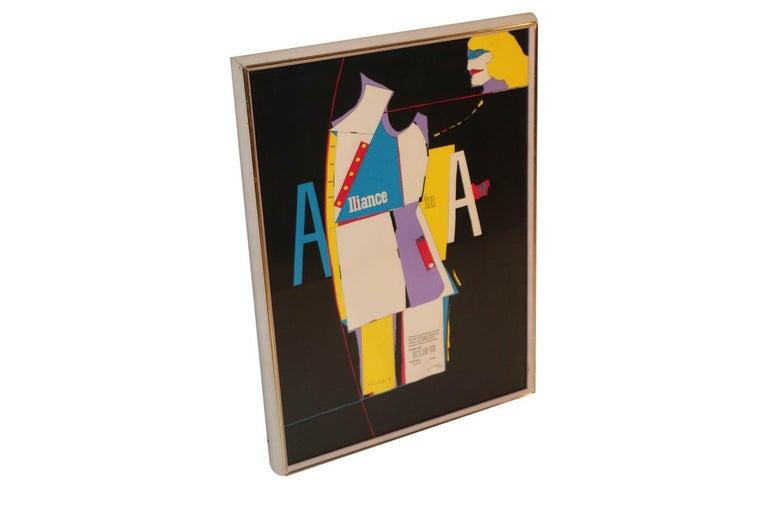 Mid-20th Century Richard Lindner Pop Art Silkscreen Alliance in Art, 1968 For Sale