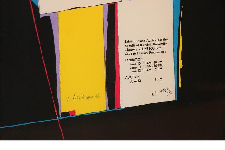Wood Richard Lindner Pop Art Silkscreen Alliance in Art, 1968 For Sale