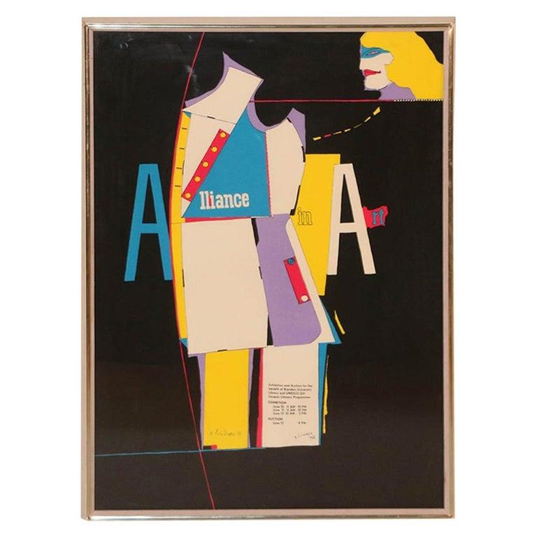Richard Lindner Pop Art Silkscreen Alliance in Art, 1968 For Sale