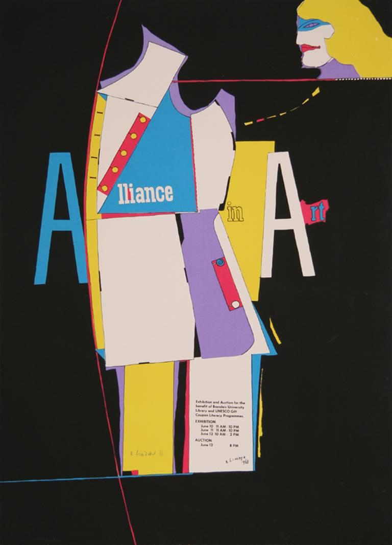 Alliance in Art, Pop Art Silkscreen by Richard Lindner 1968