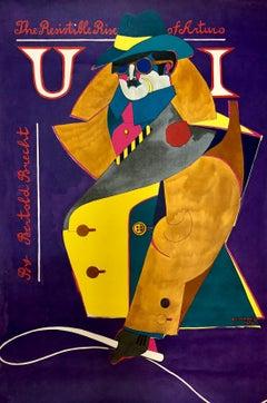 Offset Lithograph Poster Resistible Rise of Arturo, Bertold Brecht 1968 Pop Art