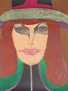 Red Head, Pop Art Lithograph by Richard Lindner