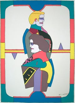 "Richard Lindner-Changing Sexuality (2 of 3)-46"" x 34""-Serigraph-Pop Art"