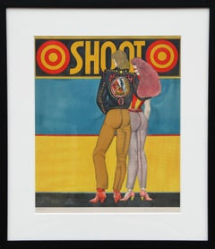Shoot, Pop Art Lithograph by Richard Lindner 1969