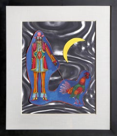 St. Marks, Pop Art Lithograph and Collage by Richard Lindner
