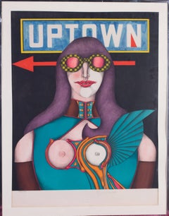 Mid 20th Century American pop art lithograph by Richard Lindner