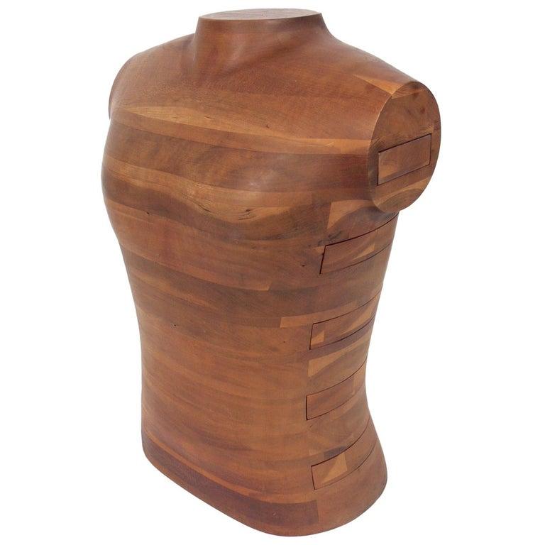 "Richard Lutes American Craft ""Torso"" Jewelry Box  For Sale"