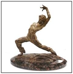 Richard MacDonald Bronze Sculpture Braceo Flamenco Signed Music Ballet Dance Art