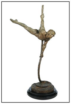 Richard MacDonald Large Bronze Sculpture Sasha Signed Music Ballet Cirque Soleil