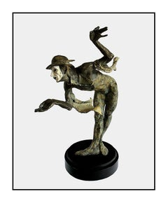 Richard MacDonald Rain Bronze Mime Sculpture Signed Original Cirque Soleil Art