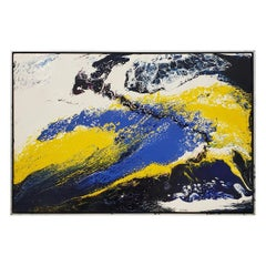 Richard Mann Abstract Expressionist Acrylic Painting, circa 1970s