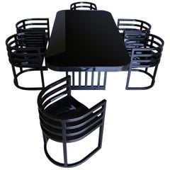 Richard Meier Dining Set for Knoll, circa 1982