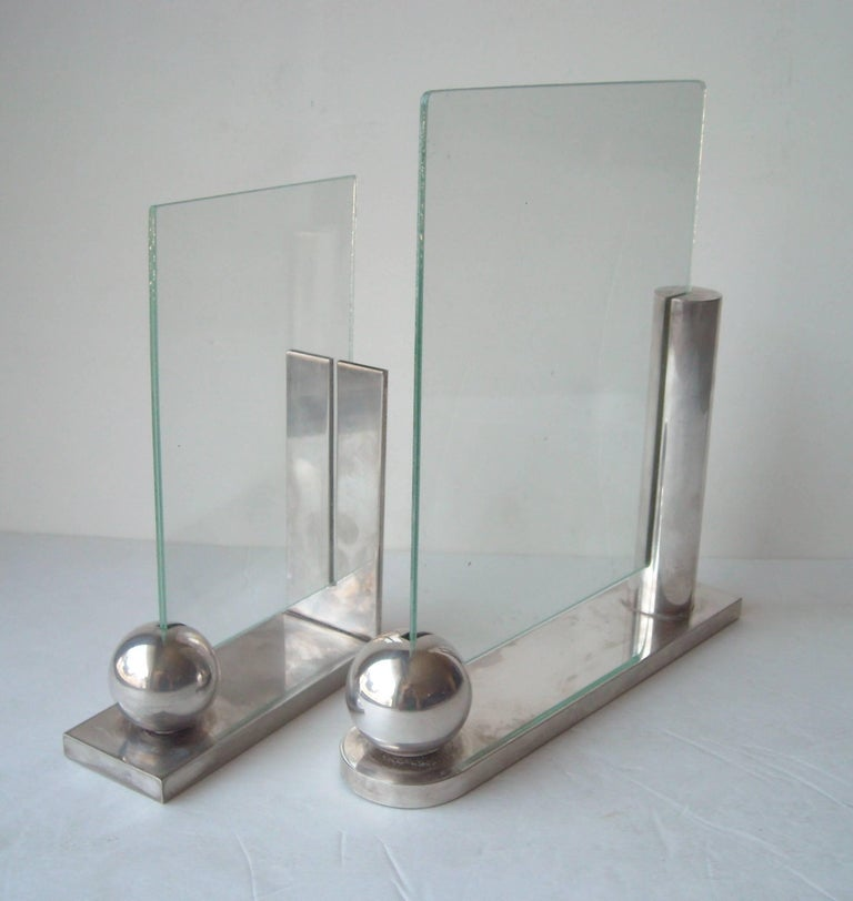 Post-Modern Richard Meier for Swid Powell Silver Plate Picture/Photo Frames For Sale