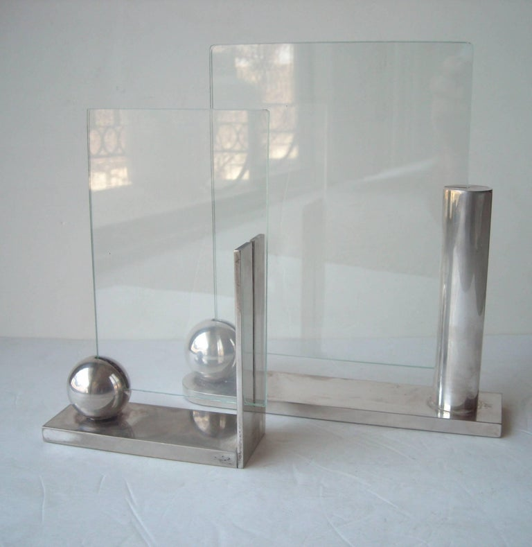 Italian Richard Meier for Swid Powell Silver Plate Picture/Photo Frames For Sale