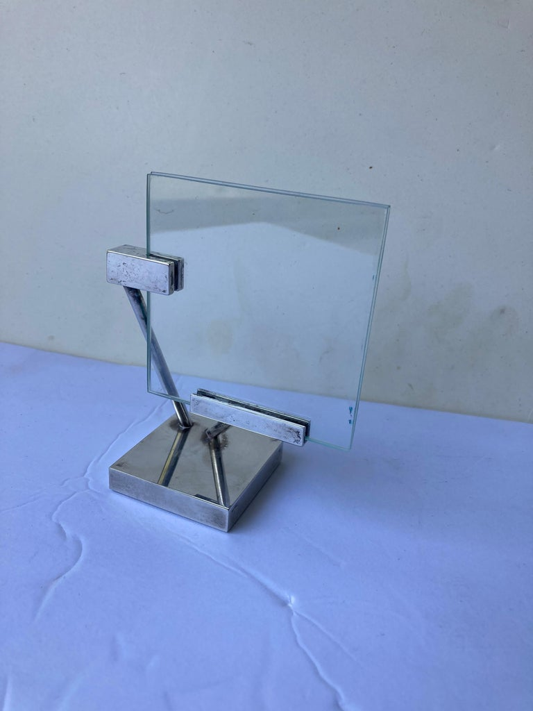 Late 20th Century Richard Meier for Swid Powell, Very Rare Silver Plate Picture Frame, Marked RM For Sale