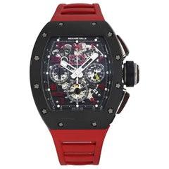 Richard Mille Felipe Massa RM011 Titanium Red Rubber Automatic Men's Watch