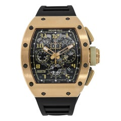 Richard Mille Felipe Massa Rose Gold Ivory Edition Chronograph Watch RM 011