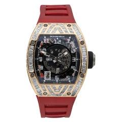 Richard Mille RM010 18k Rose Gold Diamond Pave Watch