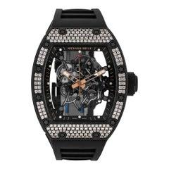 Richard Mille RM055 Bubba Watson Carbon Rose Gold Diamond Bezel Watch RM055