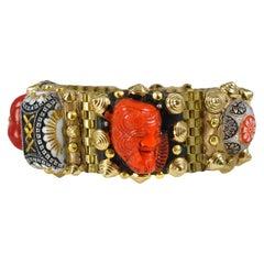 Richard Minadeo Red Buddha & Dragon Bracelet