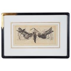 Richard Müller Etching 'Rivals' in the Style of Félicien Rops