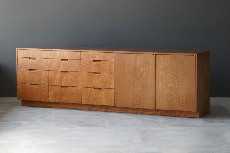 A unique and large sideboard / cabinet / chest. Designed by Richard Neutra for the Brown Sidney House, Holmby Hills, Los Angeles. Detailed provenance available upon request, circa 1955.  Other designers of the period include Paul Frankl, T.H.