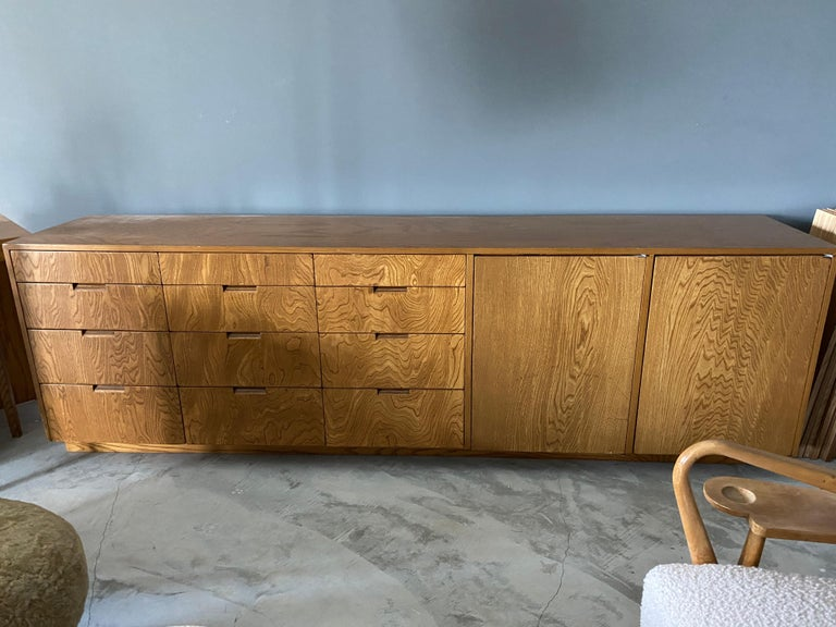Mid-Century Modern Richard Neutra, Large Cabinet / Sideboard, Plywood, Los Angeles, America For Sale