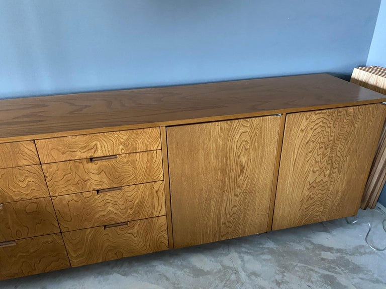 Richard Neutra, Large Cabinet / Sideboard, Plywood, Los Angeles, America In Fair Condition For Sale In West Palm Beach, FL