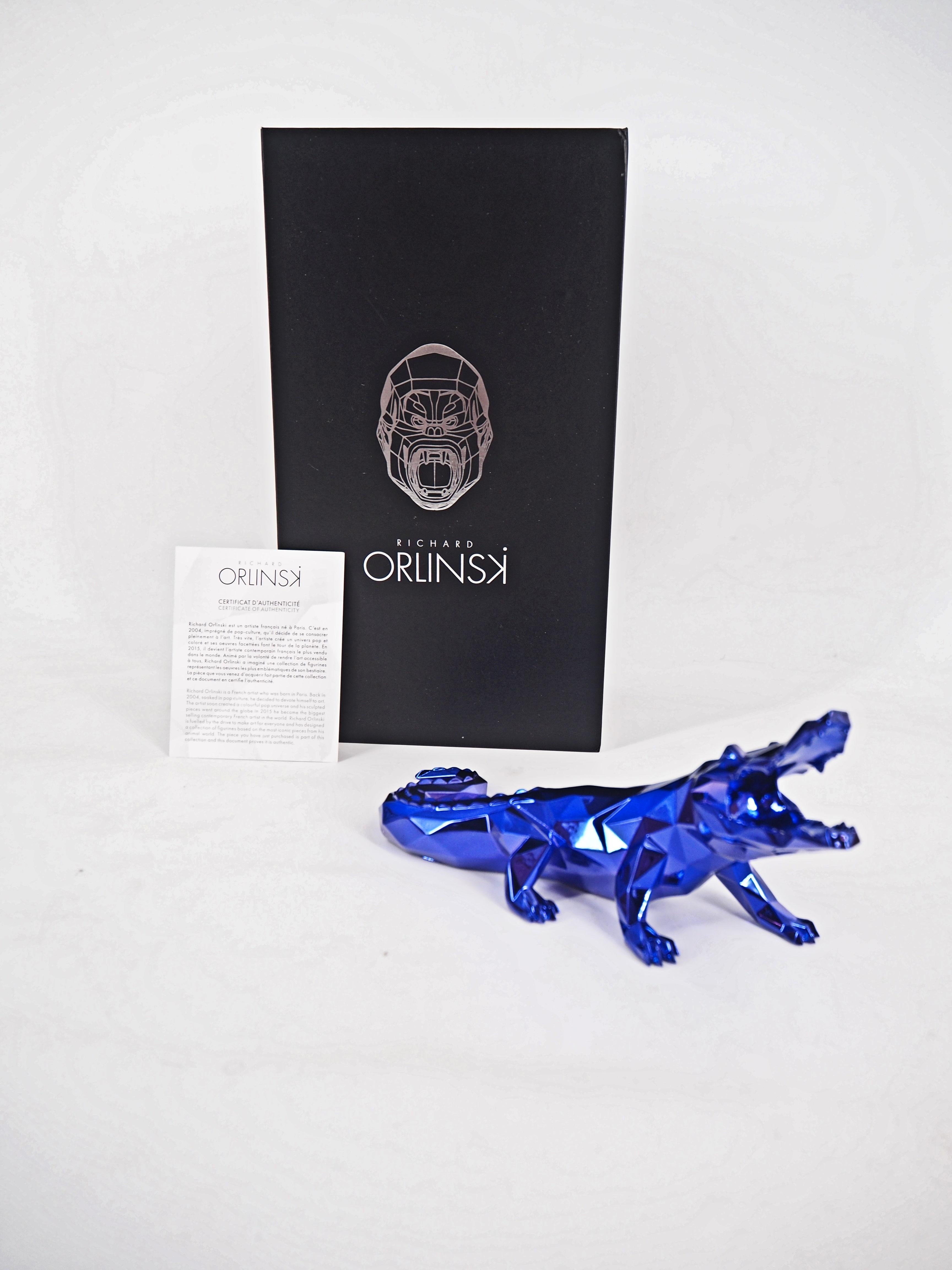 Croco Spirit (Purple edition) - Sculpture