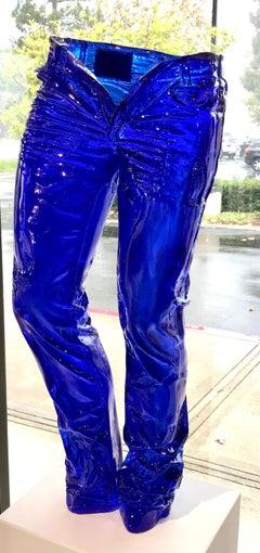 Crystal Clear Blue Jeans - Richard Orlinski - Edition of 8