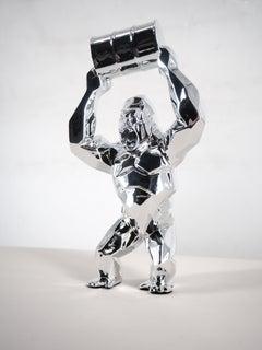Kong Oil  (Silver) - Sculpture