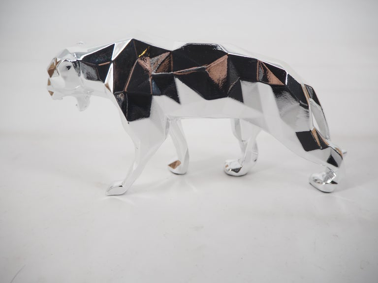 Panther Spirit (Silver edition) - Sculpture For Sale 7