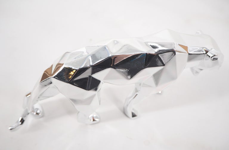 Panther Spirit (Silver edition) - Sculpture For Sale 8