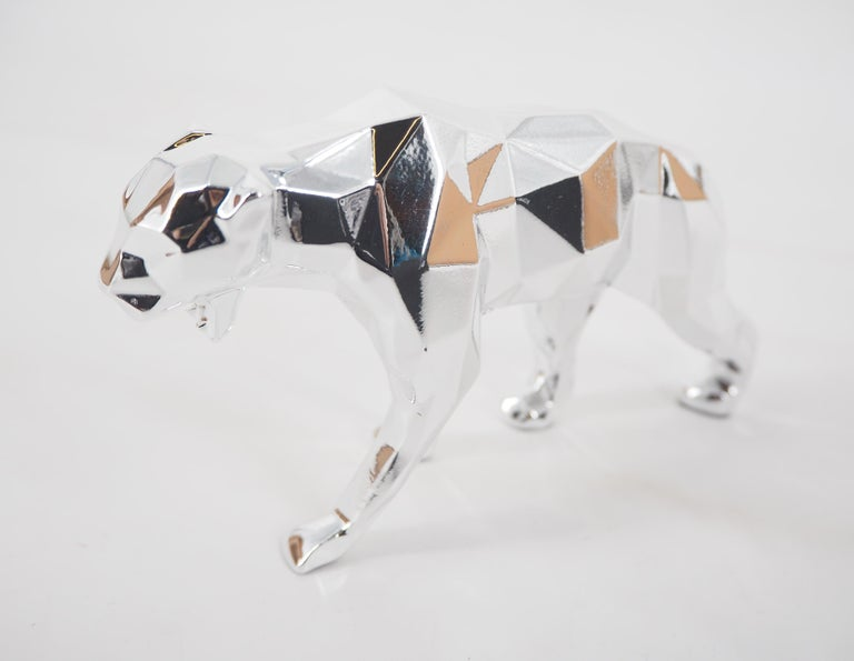 Panther Spirit (Silver edition) - Sculpture For Sale 2