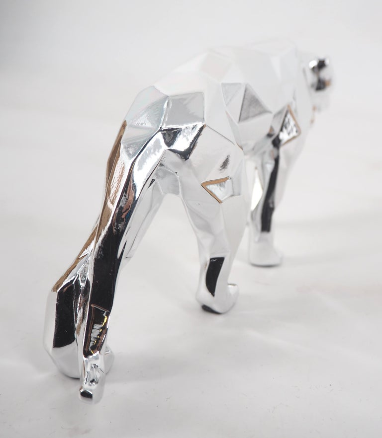 Panther Spirit (Silver edition) - Sculpture For Sale 3