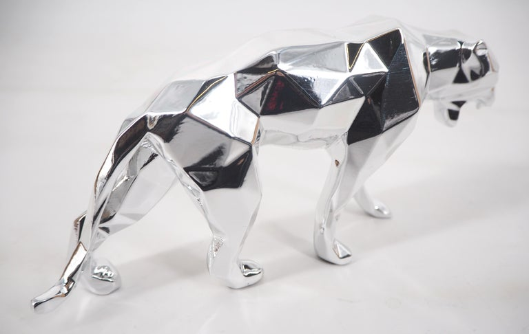 Panther Spirit (Silver edition) - Sculpture For Sale 4