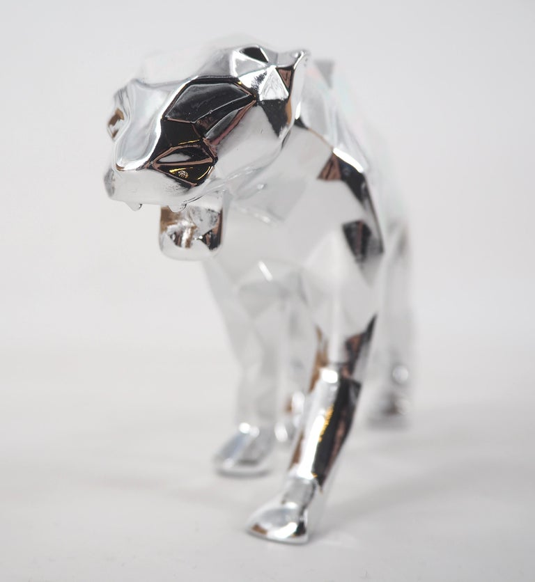 Panther Spirit (Silver edition) - Sculpture For Sale 6