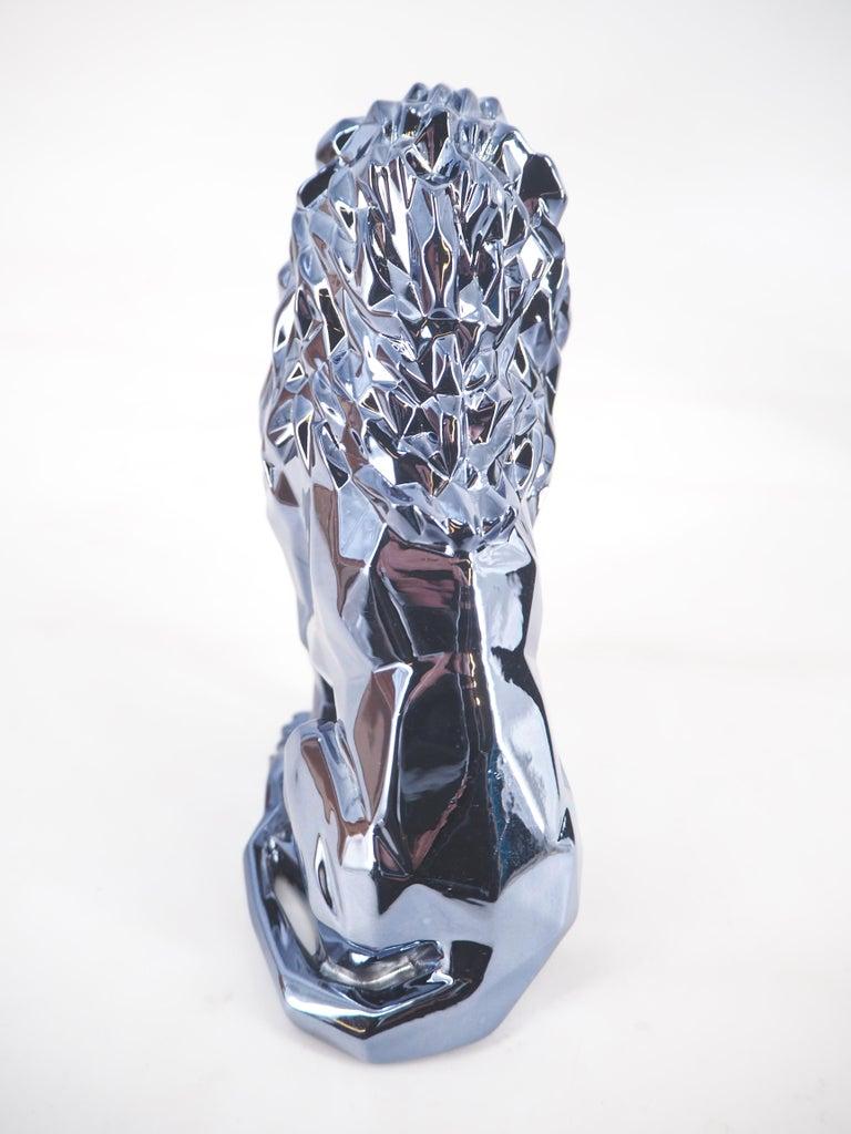 Roaring Lion Spirit (Petrol edition) - Sculpture For Sale 2