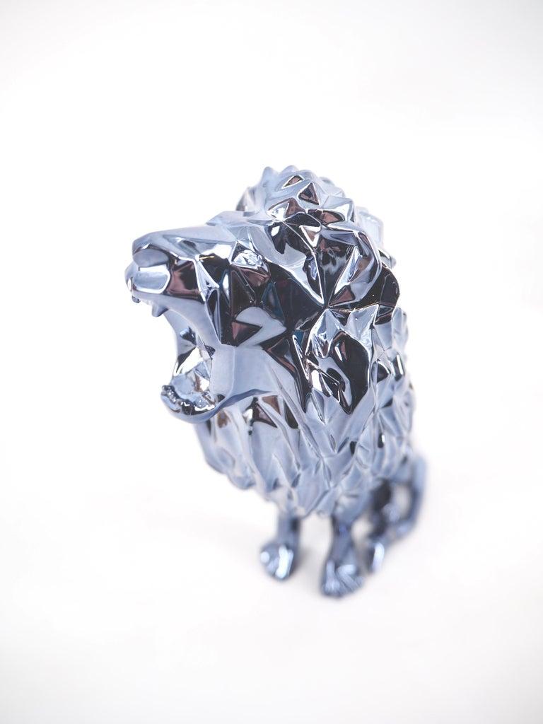 Roaring Lion Spirit (Petrol edition) - Sculpture For Sale 3