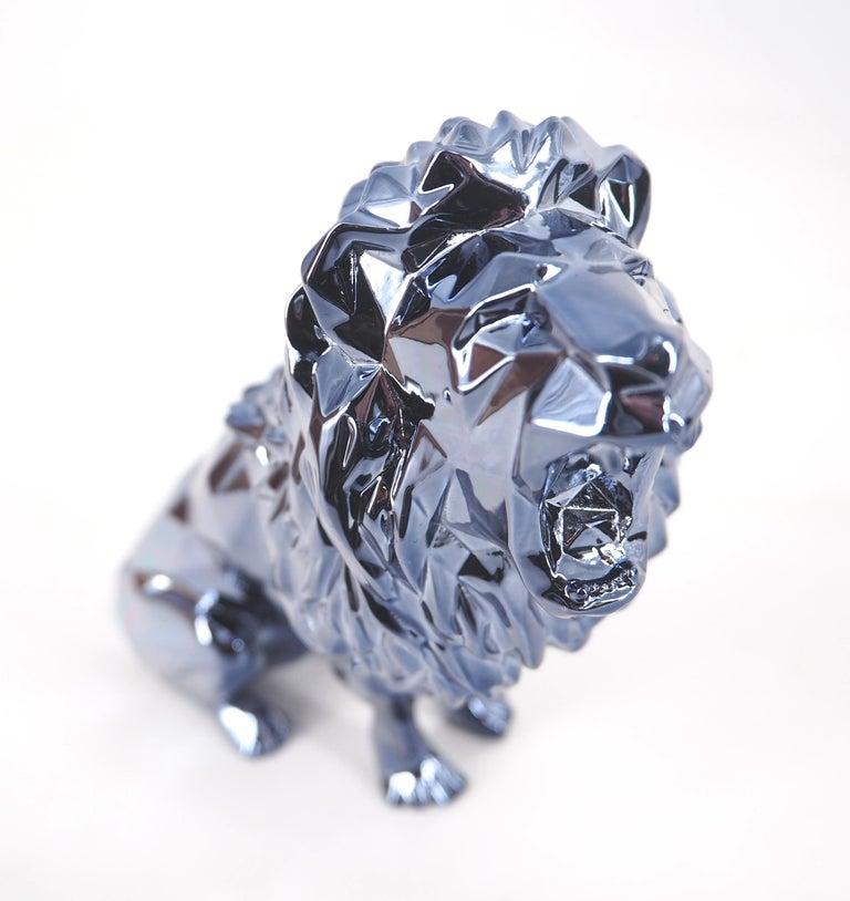 Roaring Lion Spirit (Petrol edition) - Sculpture For Sale 5