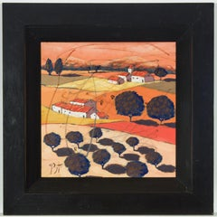 Richard Pargeter - Signed Contemporary Oil, Rural Tuscan Landscape