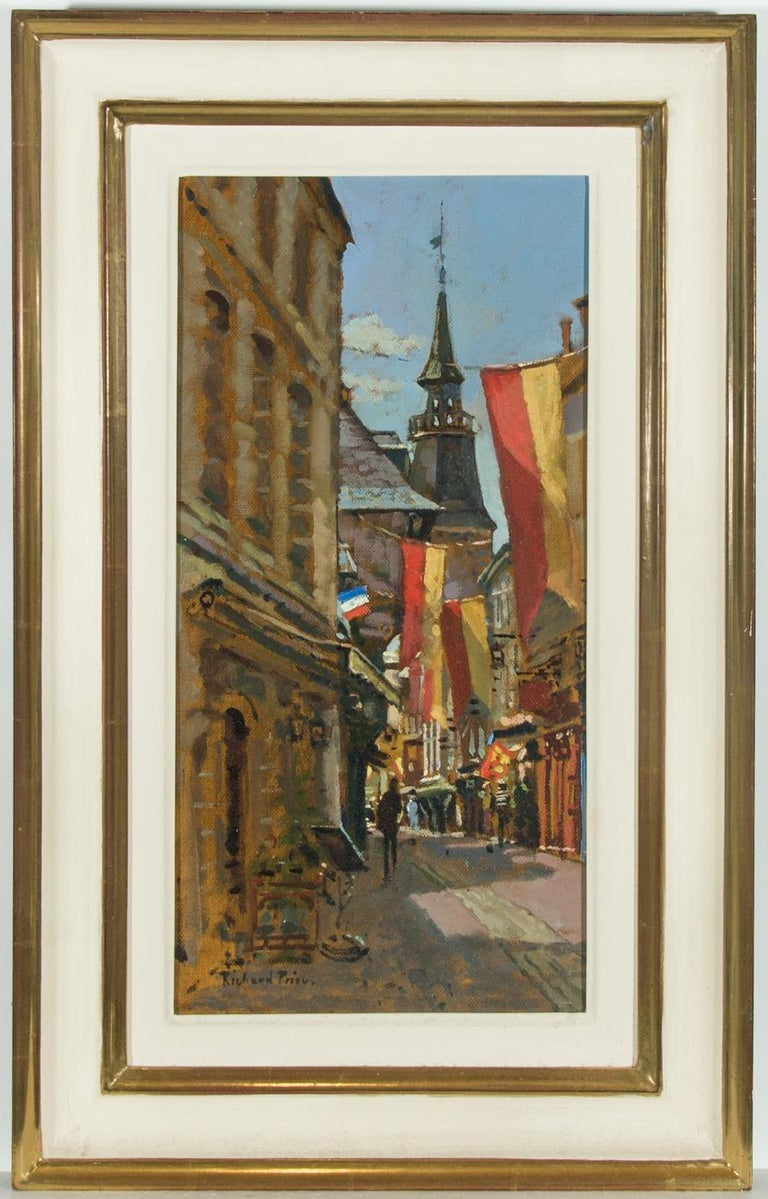 Richard Price ROI (b.1962) - Signed and Framed Spanish Oil, Towards the Spire - Painting by Richard Price