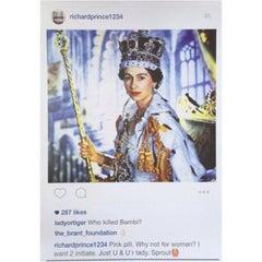 Richard Prince, Instagram New Portraits - Queen Elizabeth II, 2015