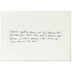 Richard Prince, The Greeting Card Jokes #1: The Fireman, 2011