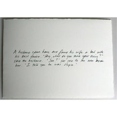 Richard Prince, The Greeting Card Jokes #2: The Best Friend, 2011