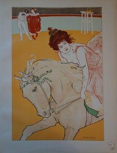 Circus : Horsewoman - Original lithograph (1897/98)