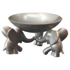 Richard Rohac Small Elephant Pedestal Bowl