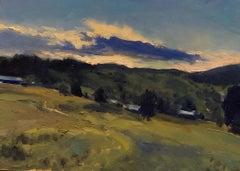 """Montana Hillside Sketch"", Oil Landscape Painting on Canvas"