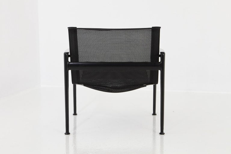 Powder-Coated Richard Schultz All Black Garden Lounge Chair from the '1966 Collection' For Sale