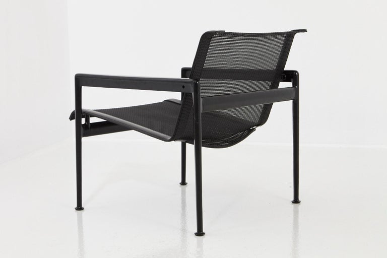 Richard Schultz All Black Garden Lounge Chair from the '1966 Collection' In Good Condition For Sale In Pau, FR